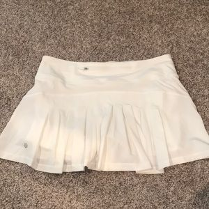White lululemon pleated back skirt!